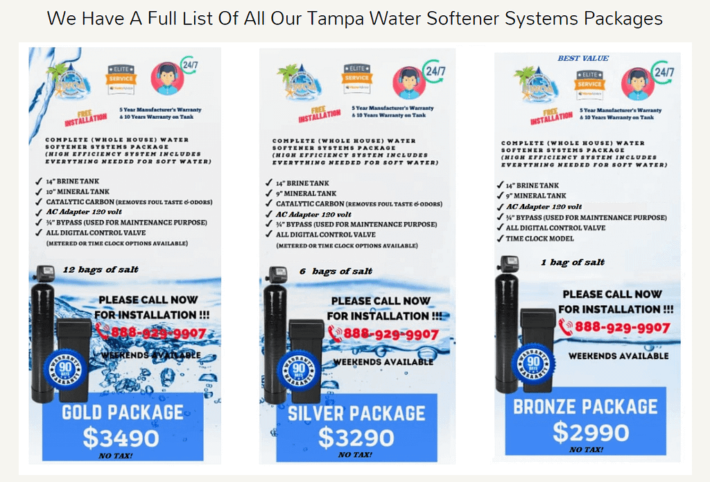 Tampa water treatment dealers